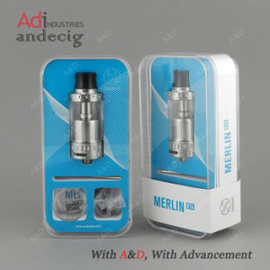 Authentic Augvape Merlin Rta 23mm 4ml Silver Rebuildable Atomizer pictures & photos