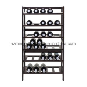 Modern Home Bar Storage Solid Wood Red Wine Display Cabinet pictures & photos
