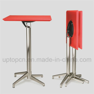 Foldable High Bar Table with ABS Plastic Table Top and Aluminum Table Base (SP-FT389) pictures & photos