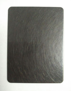 Hairline Black Decorative Color Stainless Steel Sheet for Building Material pictures & photos