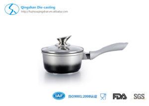 Kitchenware Aluminum Metallic Paint Sauce Pan, Milk Pot with Ceramic Coating pictures & photos