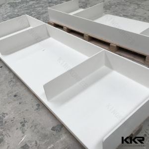 Customized Solid Surface Resin Stone Bathroom Vanity Top pictures & photos