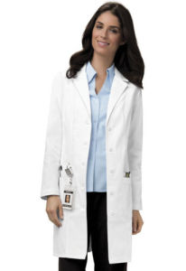 35% Cotton 65% Polyester White Medical Lab Coat (A602)