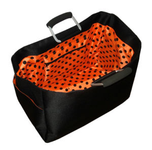 Insulated Lunch Box Satin Shopping Basket with One Folded Frame pictures & photos