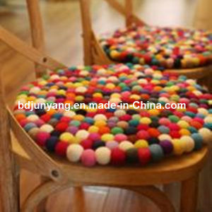 Makeup Suppliers China Wool Felt Ball Rugs pictures & photos