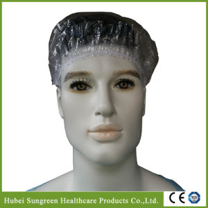 Disposable PE Clip Bathing Cap, Shower Cap pictures & photos
