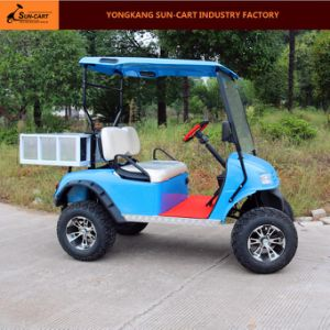 2 Passenger Electric Transport Golf Cart with Rear Cargo Box pictures & photos