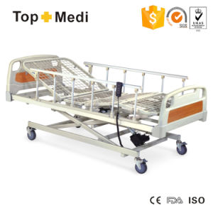 Topmedi Cheap Price Three-Funtion Electric Hospital Bed with FDA Ce pictures & photos
