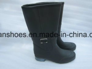 Hottest Good Quality Cheap Man Rubber Rain Boots Work Shoes Stock Shoes (FF28) pictures & photos