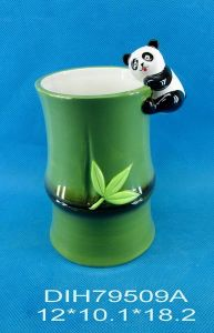 Hand-Painted Ceramic Panda Utensil Holder pictures & photos