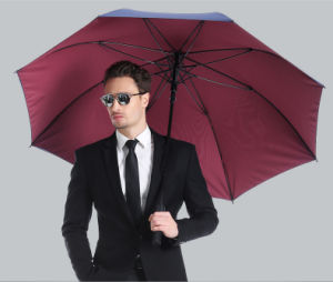 High Quality Big Size Straight Golf Umbrella Fiberglass Windproof Auto Umbrella