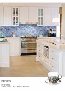 Building Material Natural Stone Marblemixed Glass Mosaic Floor Tile (FYST183) pictures & photos