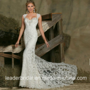 Cap Sleeves Wedding Dress Beading Lace Bridal Gown Lb20178 pictures & photos