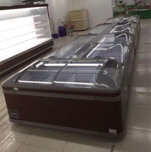 Refrigerated Supermarket Display Cabinet Island Freezer pictures & photos