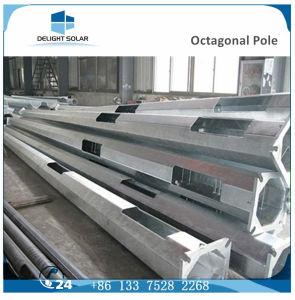 9m/10m/12m Polygonal Corrosion Resistant Single Arm Galvanized Street Lighting Pole pictures & photos