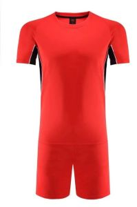 Plain Red Football Jersey with Short pictures & photos