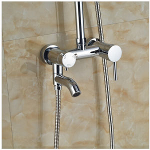 "Ultathin Style Wall Mount Single Handle 12"" Rainfall Shower Faucet with Swivel Tub Spout pictures & photos"