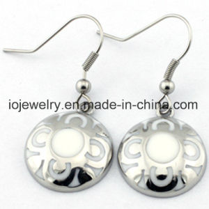 DIY Stainless Steel Enamel Jewelry Round Earring pictures & photos