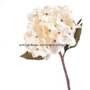 Cheap Artificial Flower Real Touch Silk White Hydrangea, Artificial Silk Blue Hydrangea
