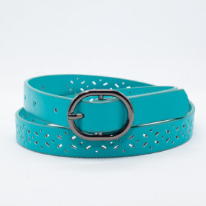 Fashion Die Cut PU Leather Belt for PU Girl (RS-131205A) pictures & photos