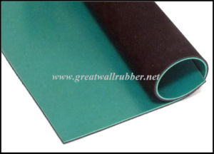 Green Black NBR Composite Anti-Static Rubber Sheet Mat pictures & photos