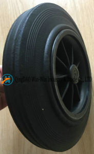 8X1.75 Flat Free Rubber Wheel for Dustbin pictures & photos