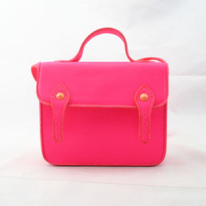Promotion Bright Pink PU Messenger Bag pictures & photos