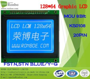128X64 Graphic LCD Panel, MCU 8bit, Ks0108, 20pin, COB Graphic LCM Monitor pictures & photos