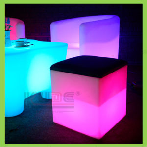 Color Changeable Home Furniture LED Cube Stool with Storage pictures & photos