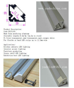 11mm Wall Recessed Mounted LED Aluminum Profiles for LED Light Bar Cabinet Kitchen pictures & photos