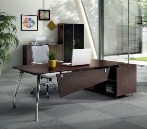 New Design Steel Metal Leg Desk Melamine Office Table (HX-NCD020) pictures & photos