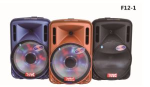 Feiyang/Temeisheng Colorful 12inch Battery Speaker Box with Amplifier Bluetooth Radio F12-1 pictures & photos