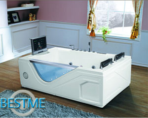 Freestanding Cheap Whirlpool Acrylic Jacuzzi Sanitary Ware Bath Tub for Bathroom pictures & photos