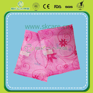 Pink Flower PE Wrapper Sanitary Napkin Mesh pictures & photos