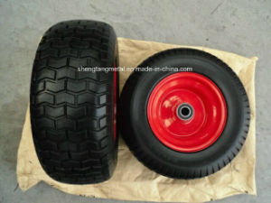 16 Inch Garden Tool Cart Wheel 6.50-8 PU Foam Wheel pictures & photos