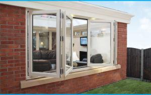 Double Glazed Aluminium Bi Folding Windows Aluminium Windows and Doors pictures & photos