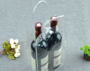 fashion PVC plastic packaging gift hand wine bag pictures & photos