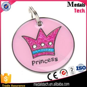 Personalized Engraved Princess Gitter Nickel Pendant Metal Dog Pet Tag pictures & photos