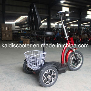 Folding 3-Wheel Electric Sightseeing Vehicle Mobility Electric Scooter 500W pictures & photos