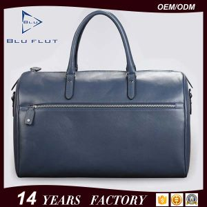 Factory Wholesale Cheap Price Genuine Split Cow Leather Travel Bags pictures & photos