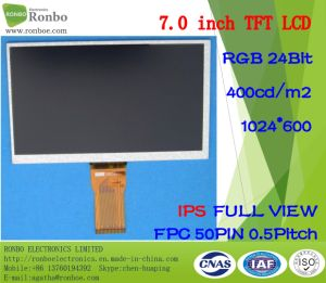 "7.0"" IPS 1024X600 RGB 50pin 400CD/M2 Full View Thin TFT LCD pictures & photos"