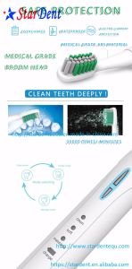 3 Cleaning Modes White Clean Sensitive Sonic Electric Toothbrush pictures & photos