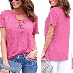 Fashion Women Leisure Casual T-Shirt Clothes Blouse pictures & photos