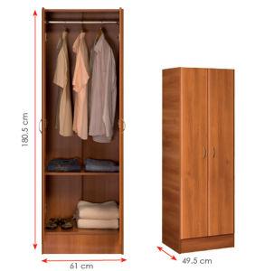 Melamine Laminated MFC Wooden Clothes Storage Cabinet Wardrobe (HX-DR311) pictures & photos