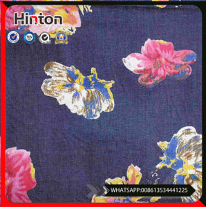 for Shirting and Dress Printed Denim Fabric pictures & photos
