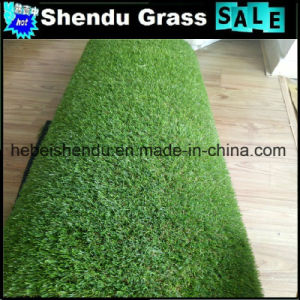 30mm Green Straight+Green Curl Yarn Synthetic Grass for Landscape pictures & photos