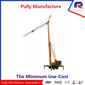 Pully Manufacture Max. 1 Ton Load Foldable Mobile Tower Crane (TK23) pictures & photos