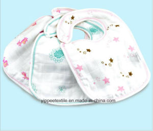 100% Cotton Muslin Snap Bib pictures & photos