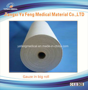 Medical Gauze Raw Material 100% Cotton Absorbent Jumbo Gauze Roll pictures & photos