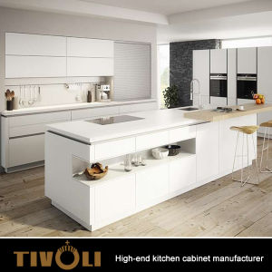 Formica Laminate Kitchen Cabinets with Modern White Cabinets Custom Made Cupboards Top Tivo-0085h pictures & photos